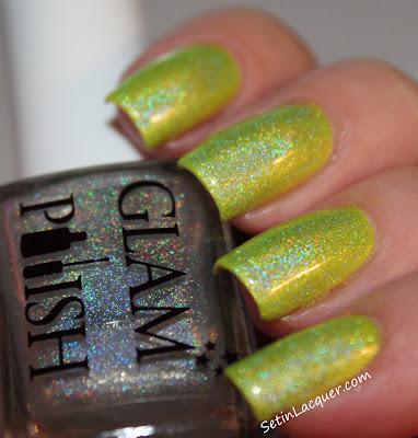 Glam Polish - Iridessa with top coat of Gliss