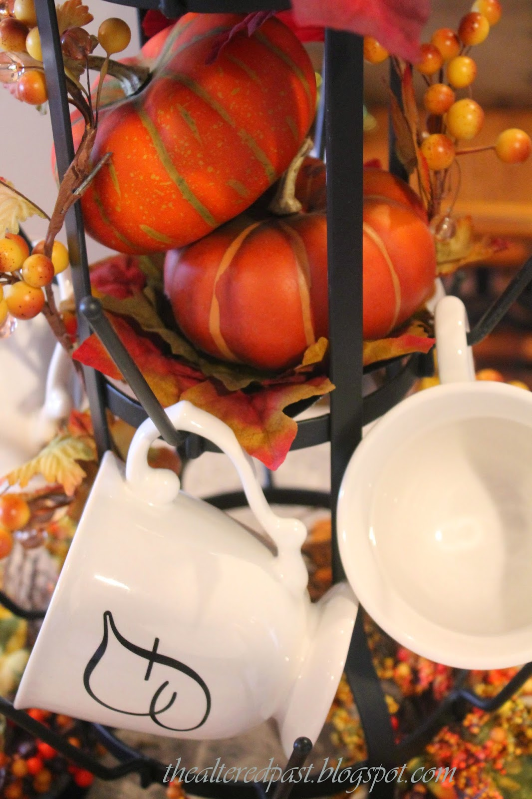 beautiful display on french bottle drying rack for fall