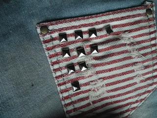 Sammi Jackson DIY studded american flag shorts