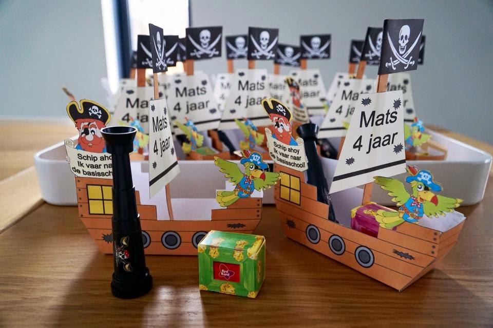 Piraten traktatie, Piraten traktatie zelf maken, Olaf traktatie, Piraten traktatiedoosje, Piraten printables, Anna traktatie, Elsa traktatie, Piraten feest