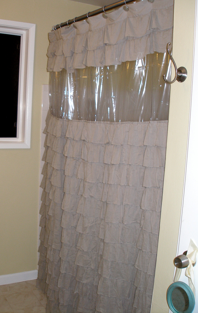 abby and adam: DIY Clear View Shower Curtain