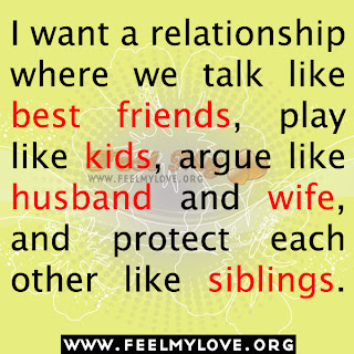 I want a relationship where we talk like best friend