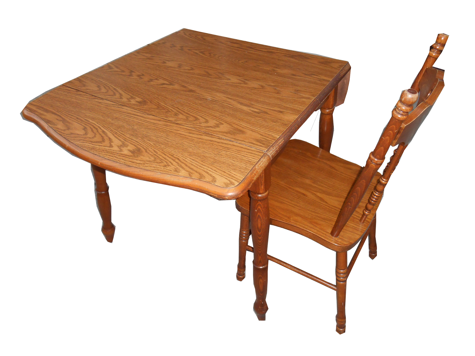 Drop leaf table with chairs mid century modern drop leaf for Kitchen table with leaf and chairs