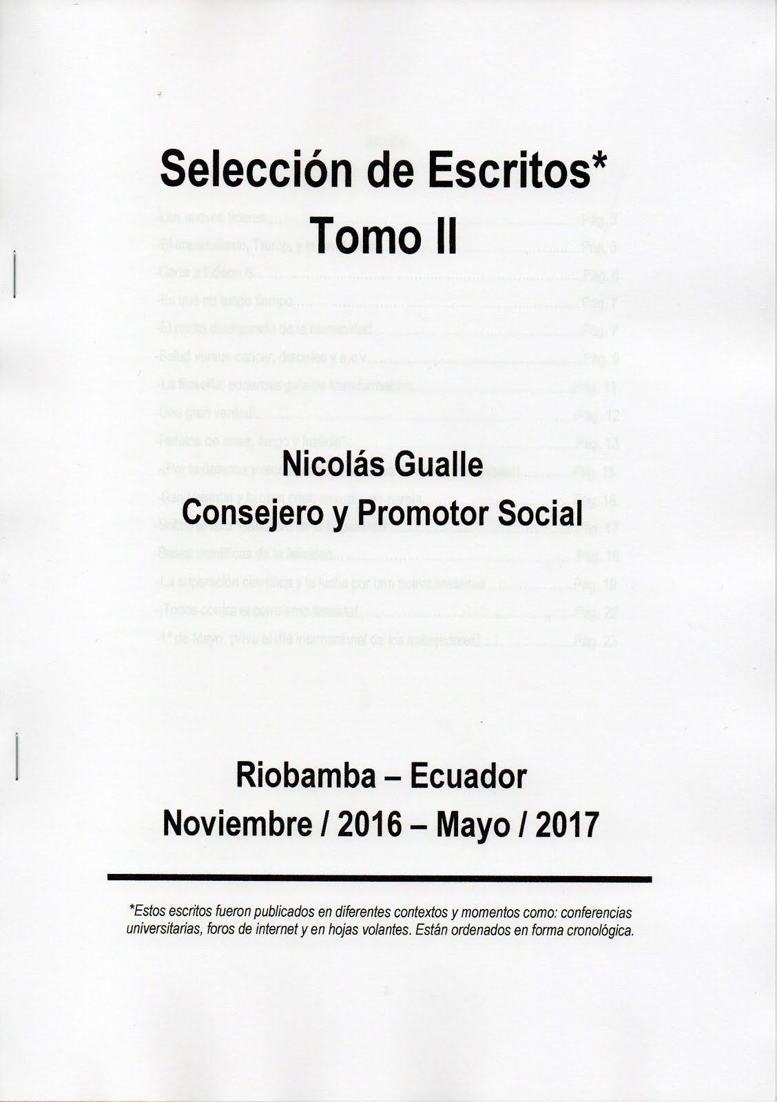 SELECCIÓN DE ESCRITOS TOMO II - NICOLÁS GUALLE