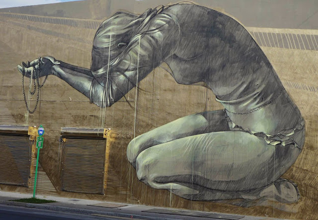 """Multum In Parvo"" New Street Art Piece by Faith47 For Women On The Walls in Wynwood, Miami. 3"