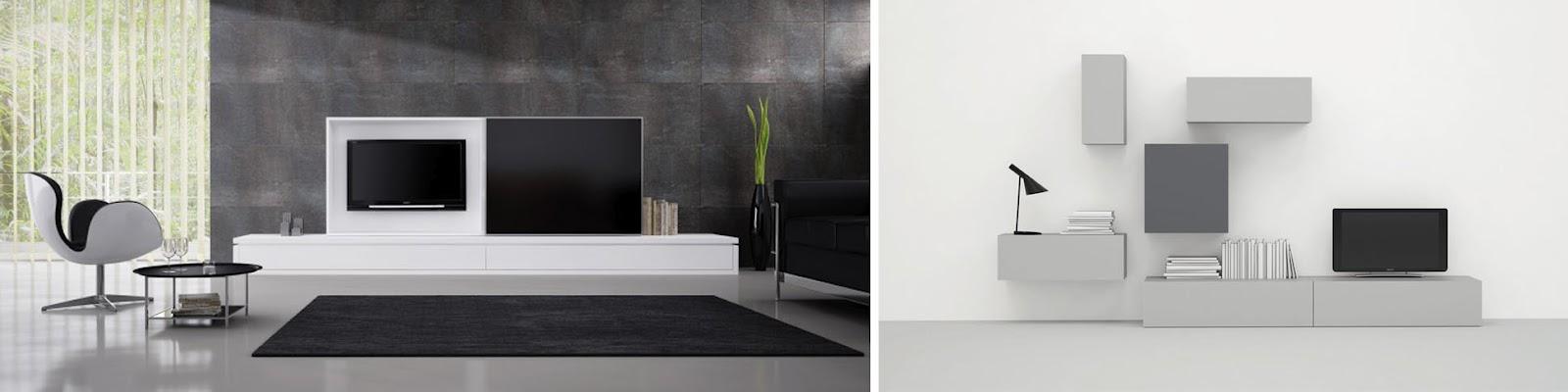Sal n comedor minimalista redise a tu mundo for Muebles tv colgados