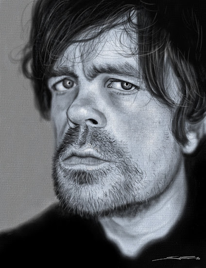 Peter Dinklage -illustration Corel Painter 2018 Pastel, Watercolors, Blenders, Blur,Airbrush, Oil a