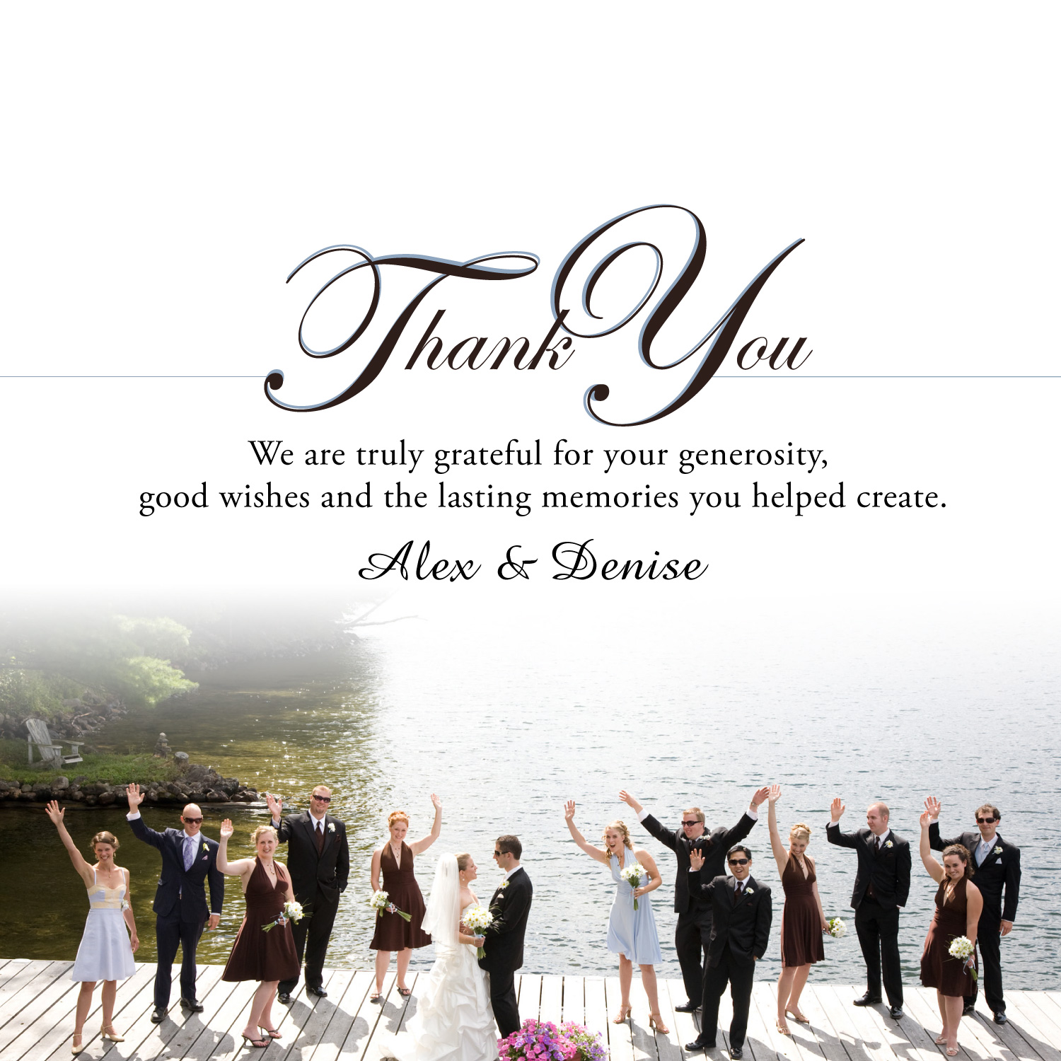 """Marketing Wonders: """"Thank You For Coming To Our Wedding"""""""