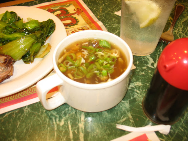 A hot cup of hot & Sour soup at Hudson Buffet in Fishkill, NY!