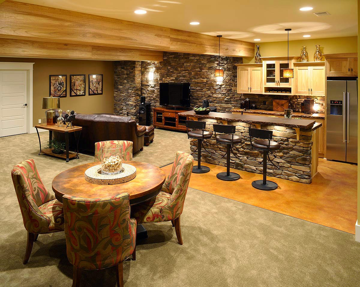 16 creative basement ceiling ideas for your basement instant knowledge - Basement bar layout ideas ...