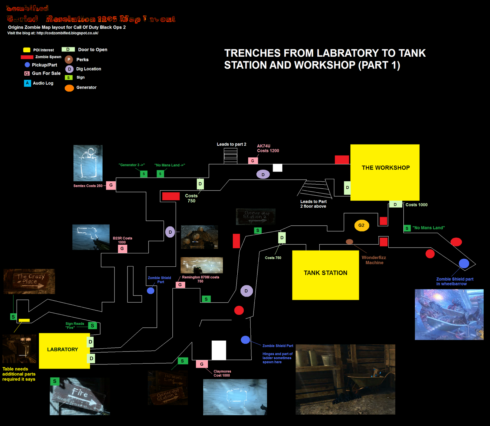here is the layout for the first part of the trench on the ground floor its a large file so please give it a few seconds to download