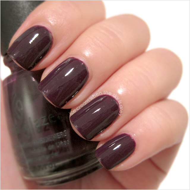 China Glaze Urban-Night Nail Polish Swatch & Review, Metro Collection