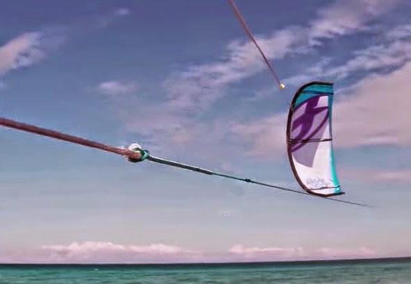 Kitesurfing line knots