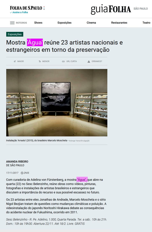 EXPOSIÇÃO ÁGUA, CURADORIA: ADELINA VON FÜRSTENBERG | SES BELENZINHO