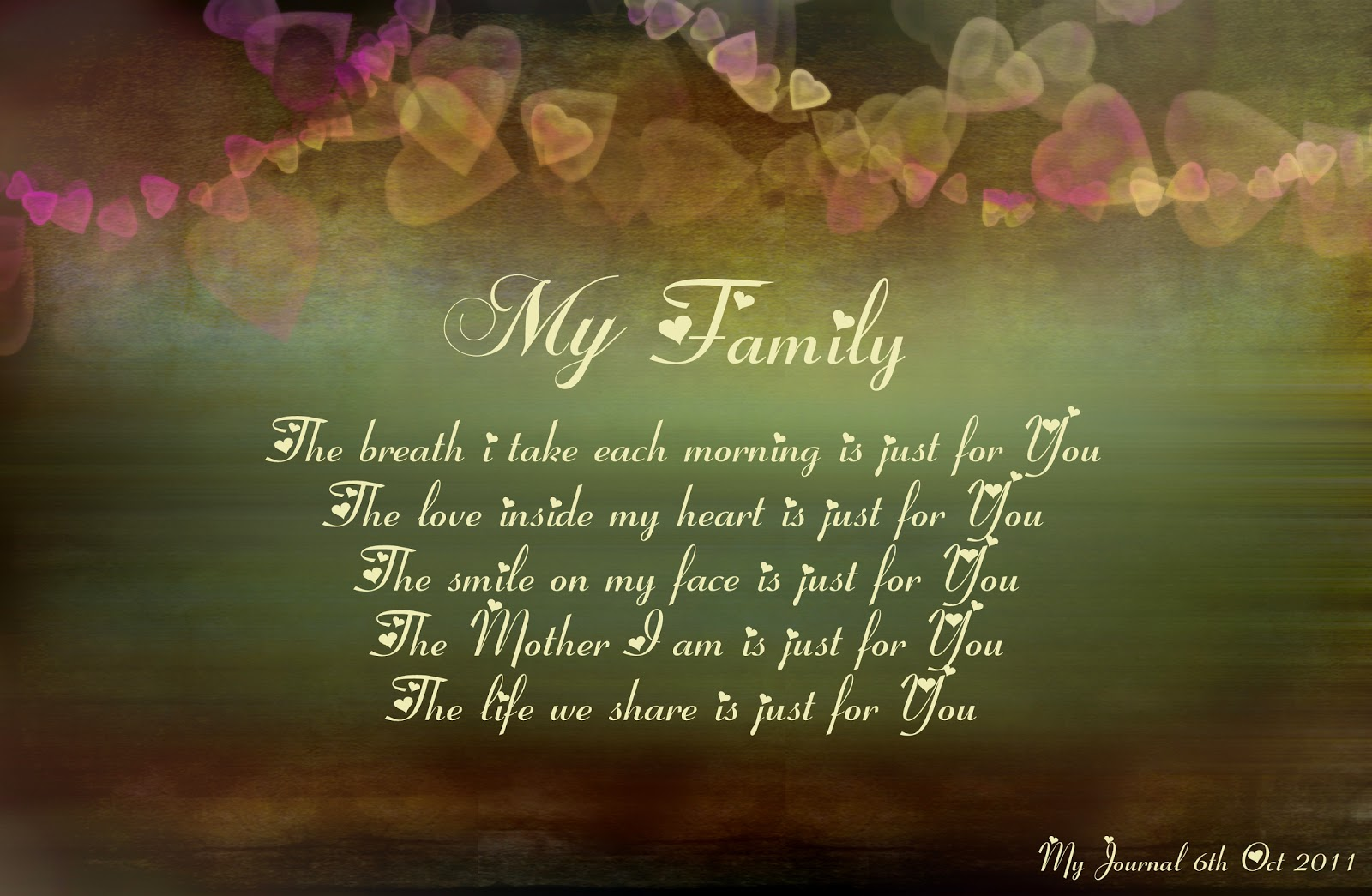 i hope you share some of your family times with me