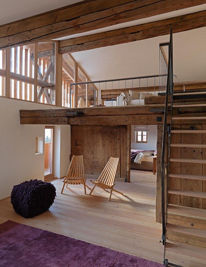 una casa rustica moderna - doble espacio-duplex
