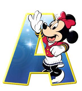 Alfabeto de personajes Disney con letras grandes Minnie.