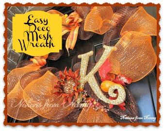 See my 2013 revised Fall Deco Mesh with Burlap here !
