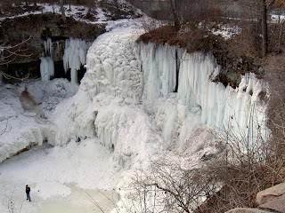 Front a Frozen Waterfall - Snow -Ice