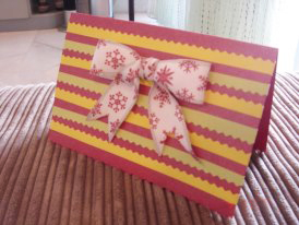 Snowflake Ribbon X'mas Card