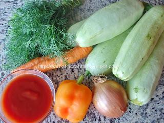 Mancare de dovlecei ingrediente reteta