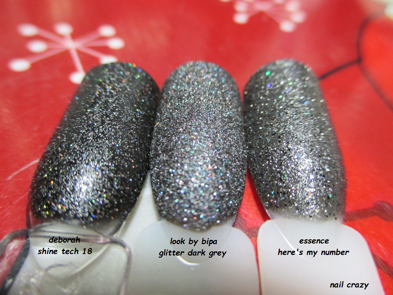 Nail crazy: Look by Bipa Glitter Dark Grey