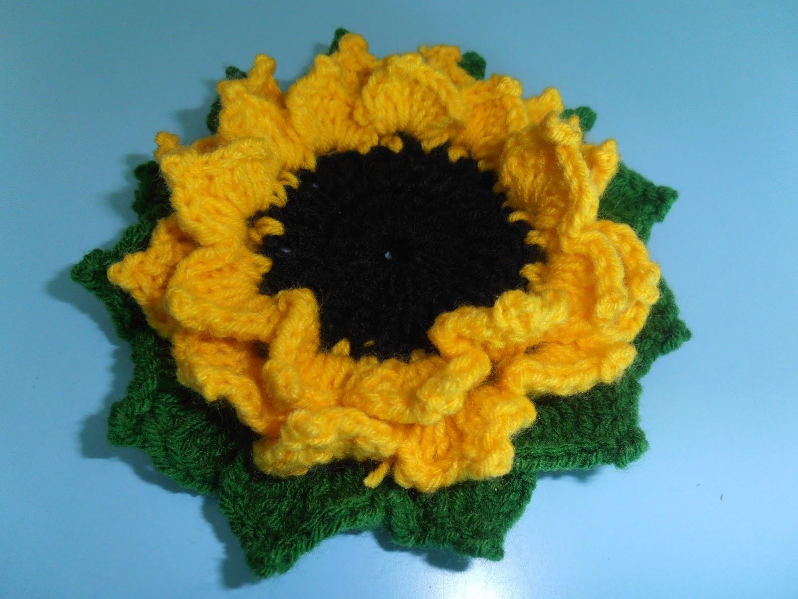 Dielas crochet crochet bunga matahari sekuntum crochet bunga matahari ccuart Gallery