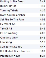 Download adele 21 deluxe edition track list Free