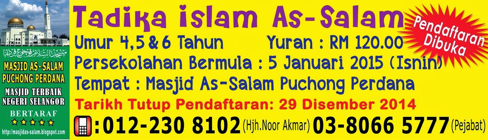 Tadika Islam As-Salam Sesi 2015