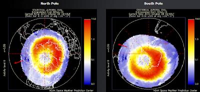 Auroras polo Norte y Sur, 08 de Octubre 2012