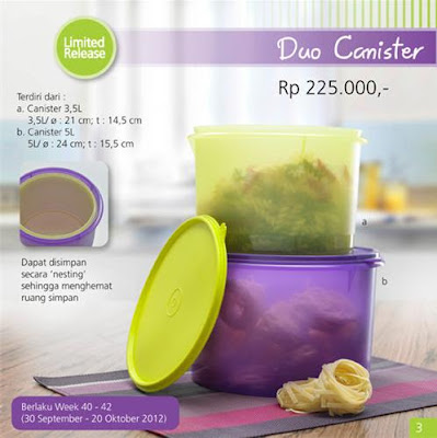 Tupperware Duo Canister