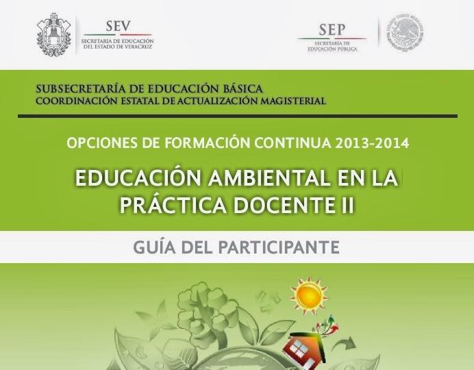 EDUCACIÓN AMBIENTAL II GUÍA DEL PARTICIPANTE