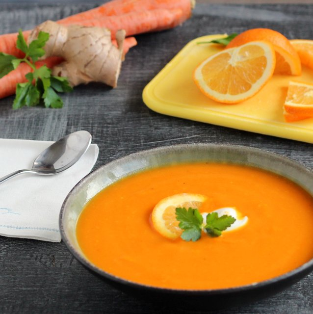 ... bright, gut-warming gingery carrot and orange soup? It works for me