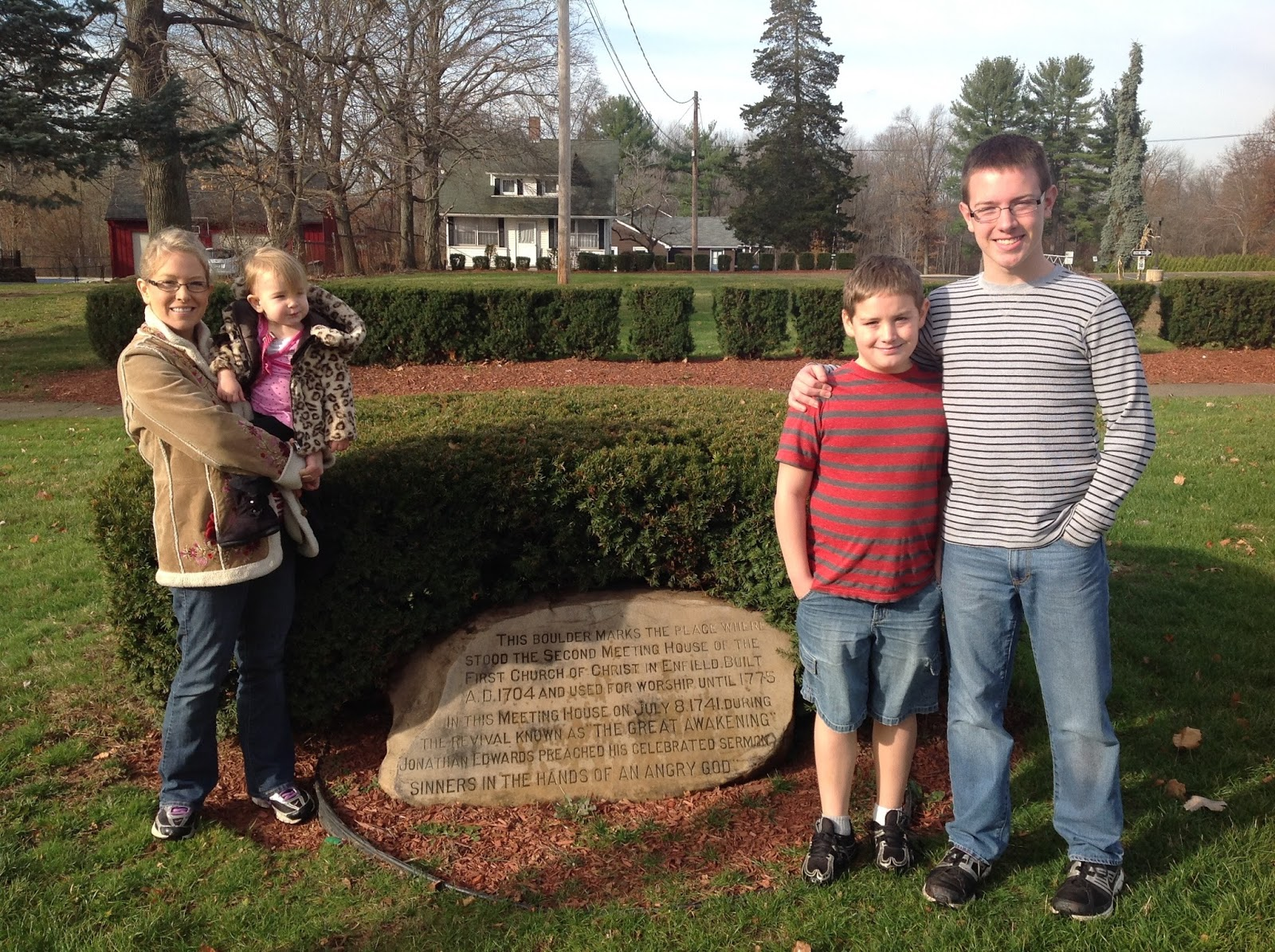 matthew dowling 2016 my family at the preaching site of sinners in the hands of an angry god
