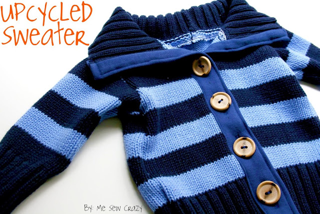 upcycled boys sweater tutorial