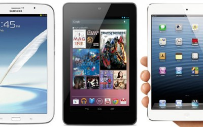 Samsung Galaxy Note 8 vs Nexus 7vs iPad Mini