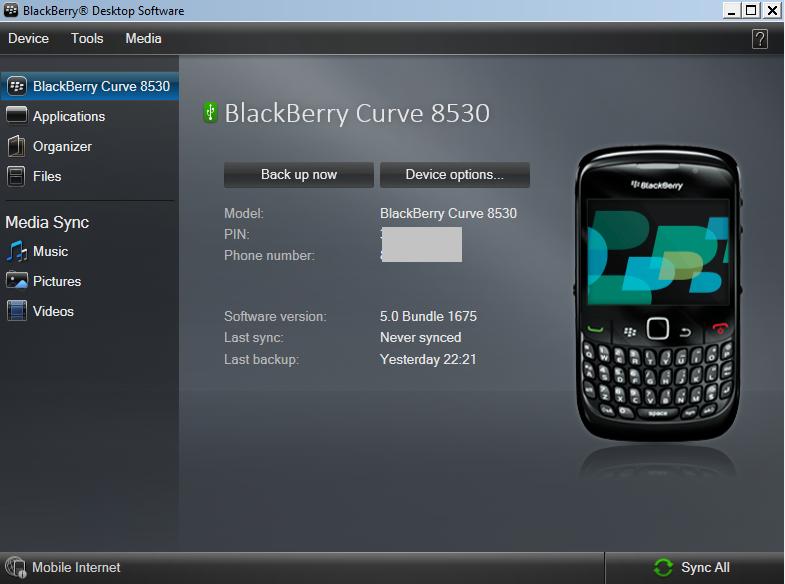 ... Kontak BBM dan Data Pada BlackBerry Curve Menggunakan Desktop Software
