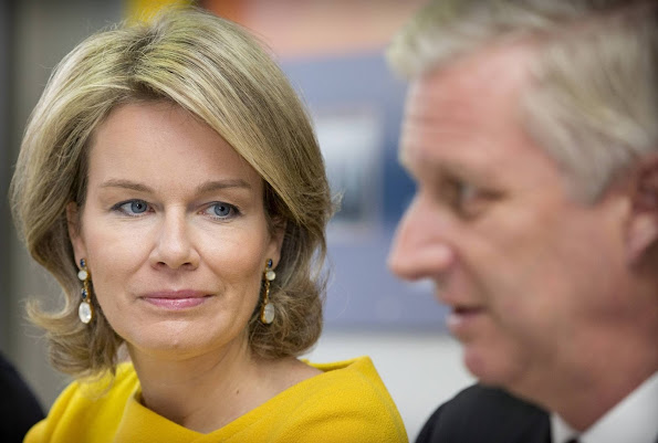 Queen Mathilde of Belgium and King Philippe of Belgium visit the region Hainaut in Belgium