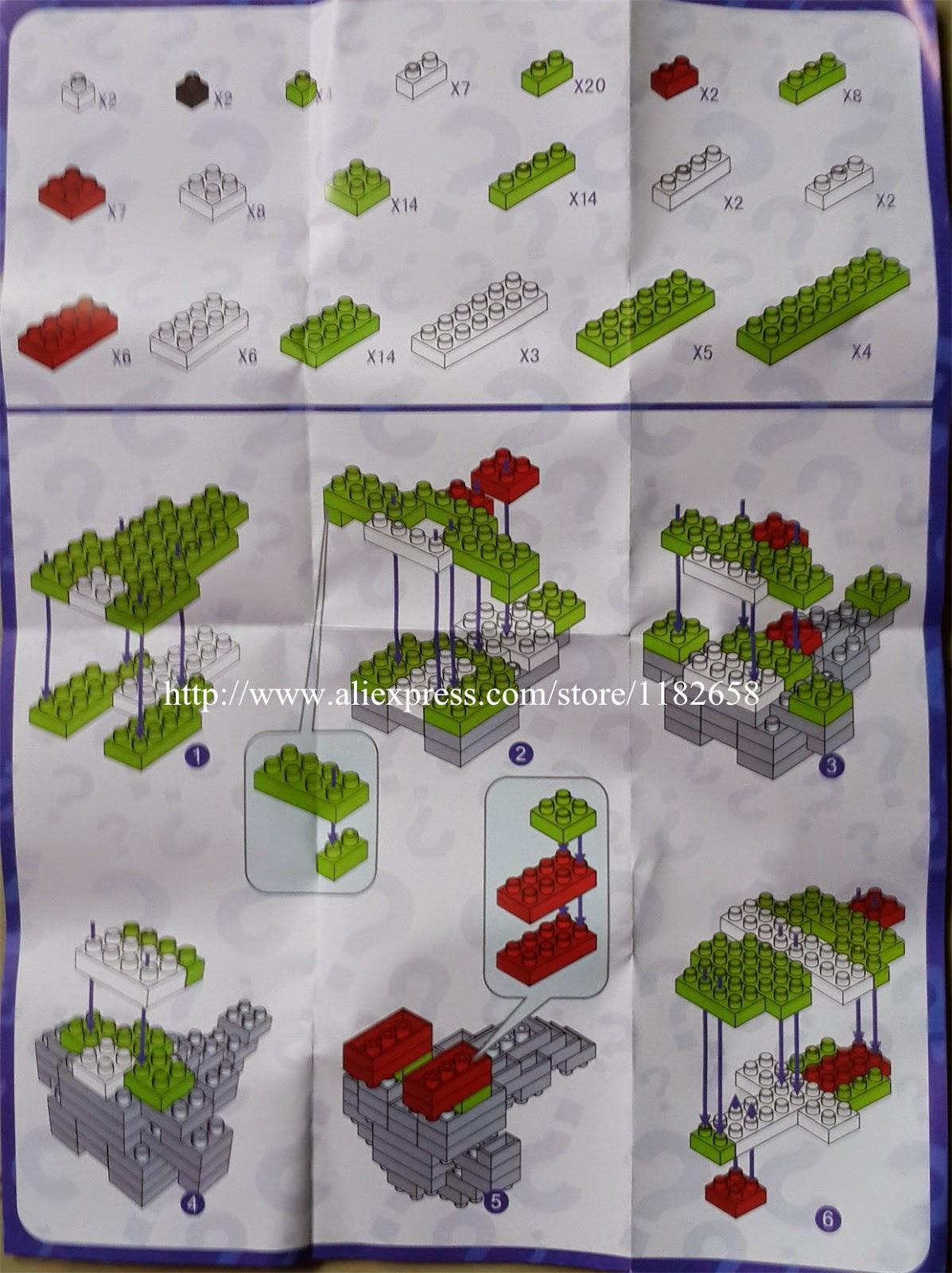 Loz Diamond Blocks Yoshi Instruction Diy Building Toys Blocks