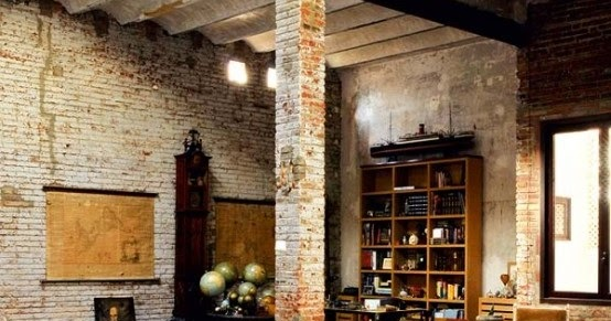 Industrial Brick Living Room