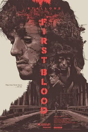 First Blood Standard Edition Screen Print by Grzegorz Domaradzki