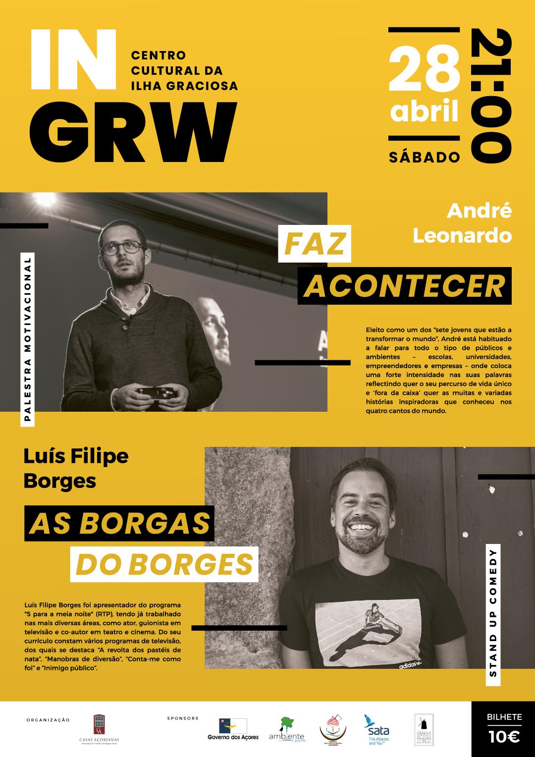 """""""Faz Acontecer"""" e """"As Borgas de Borges"""", a  28 de abril, pelas 21:00, no Centro Cultural"""