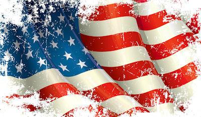 Ilustración colorida de la bandera de los Estados Unidos - USA Flag Illustration
