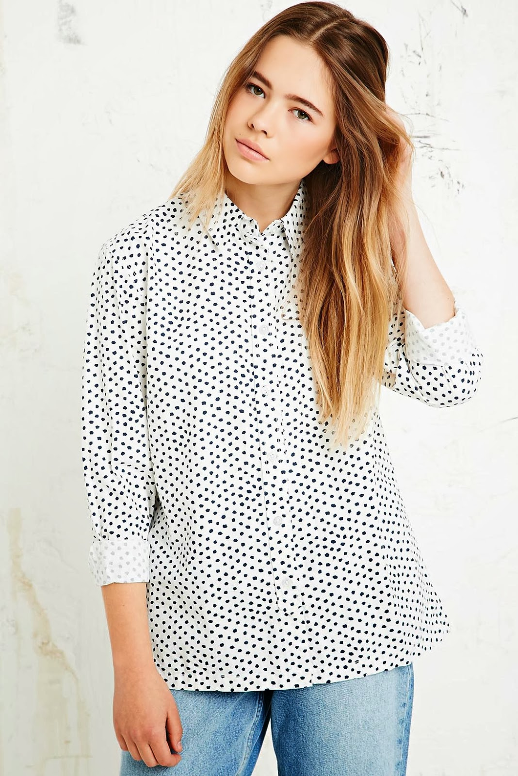 urban outfitters spotty shirt