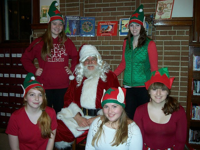 photo of Santa and his elves