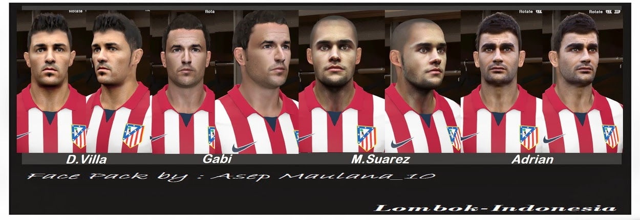 PES 2014 Atletico Madrid Facepack by asep maulana_10