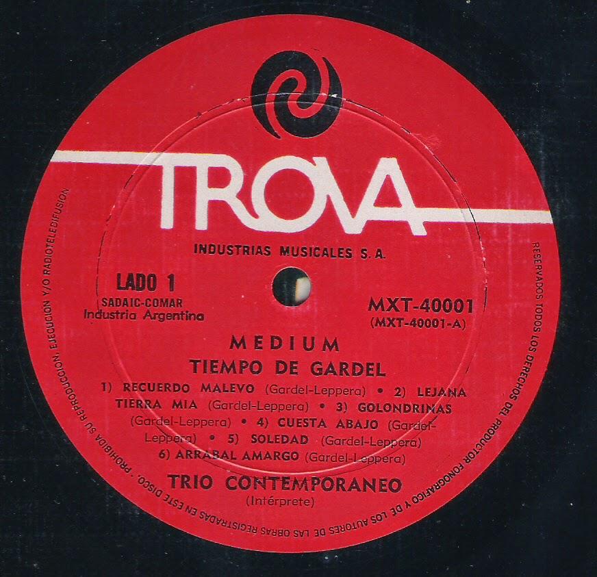 Trio Contemporaneo -Tiempo de Gardel (1971)