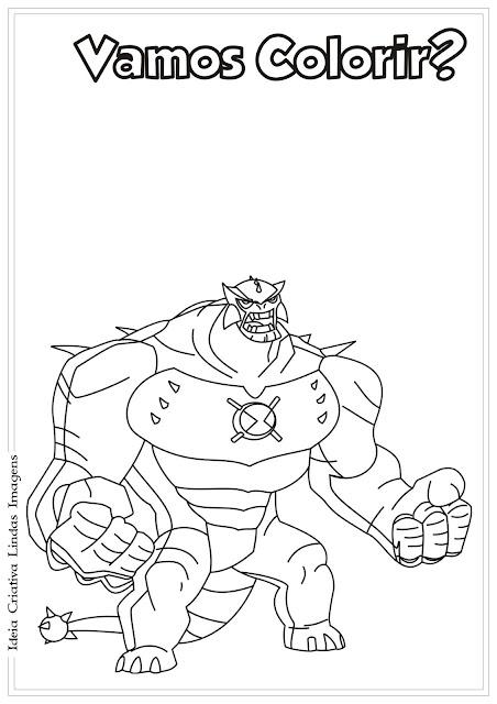 Desenho Ben 10 para colorir