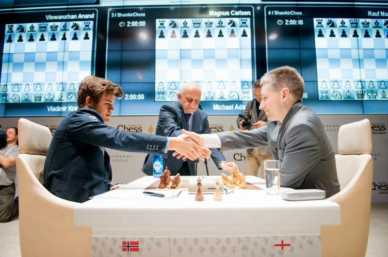 Shamkir Chess 2015. Adams - Carlsen