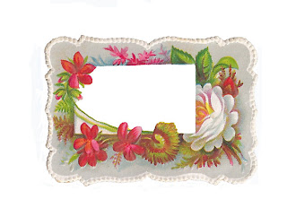Antique Images Digital Label Design Vintage Flower and